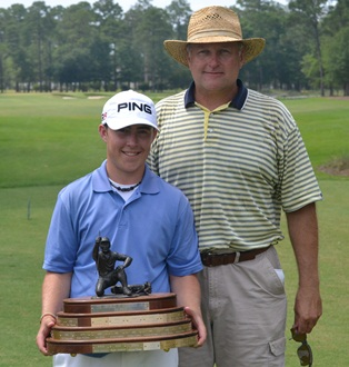 2011 SCGA Jr Champion Austin Langdale with his father Aaron Langdale.